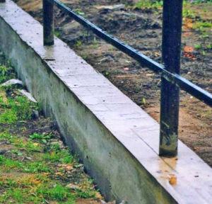 Забор с фундаментом